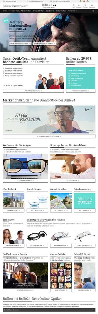 Neue Homepage von Brille24