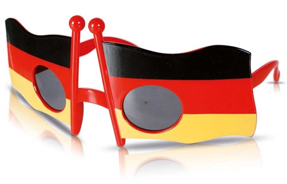wm brille mit deutschlandflagge. Black Bedroom Furniture Sets. Home Design Ideas