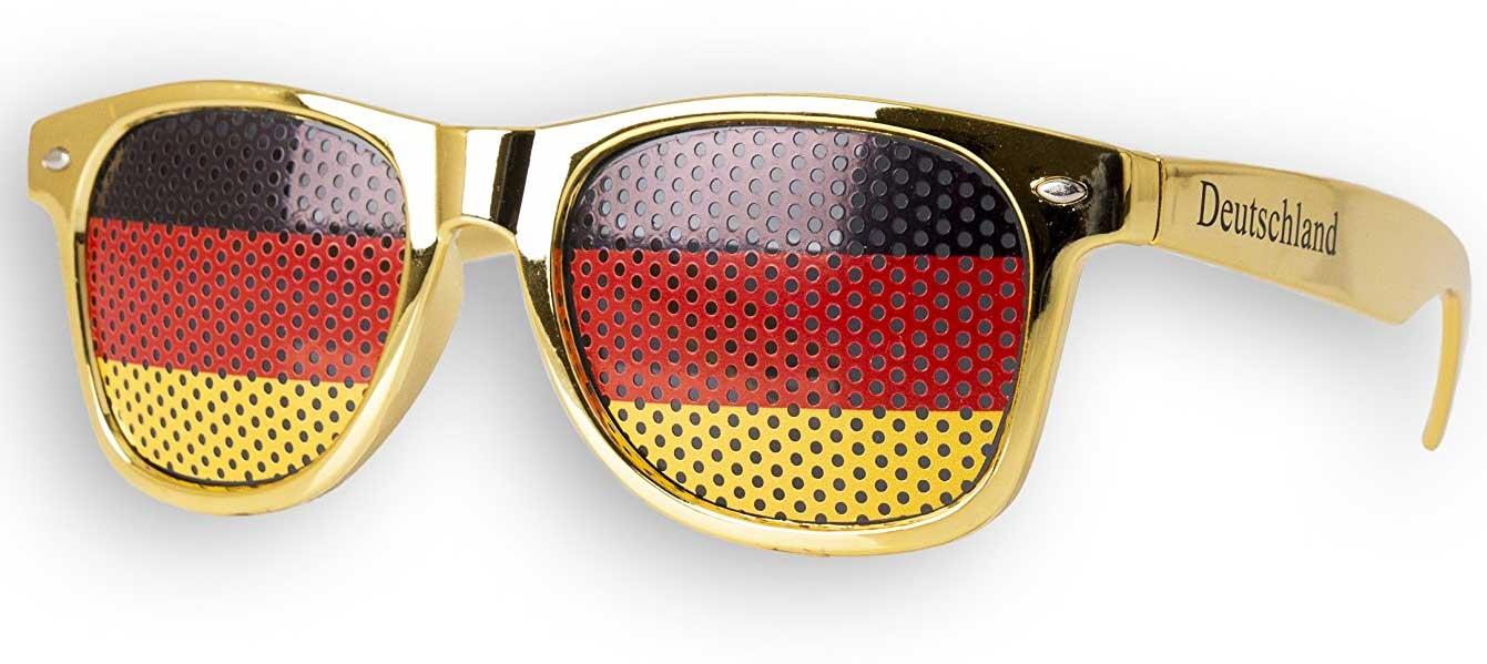 WM Fanbrille Deutschland (gold) Sonnenbrille