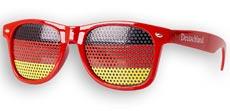 WM-Fanbrille Deutschland (rot) Sonnenbrille mit UV400 und Lochfolie