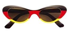 WM-Sonnenbrille Deutschland für Damen oval
