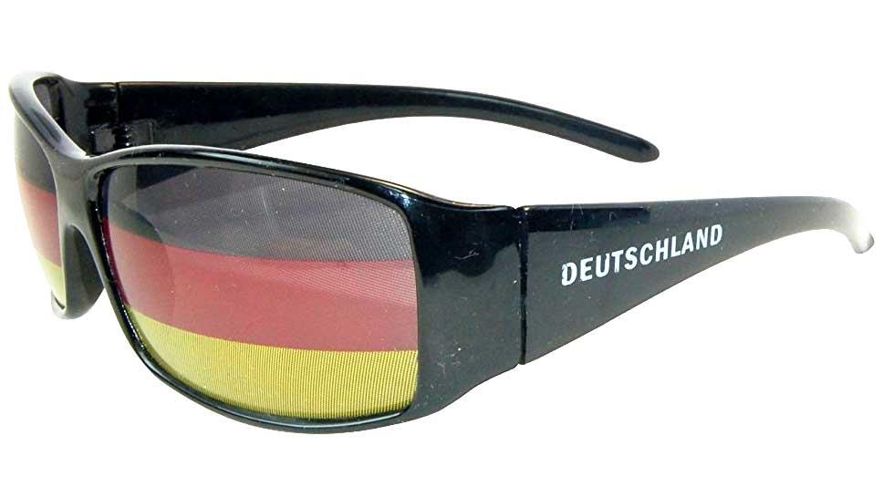 wm fanbrille mit deutschland flagge sonnenbrille uv400. Black Bedroom Furniture Sets. Home Design Ideas