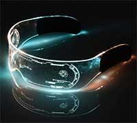 Xiamusummer Halloween-LED-Leuchtbrille (Neonbrille)