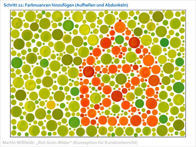 Konzept Für Kunst Unterricht Rot Grün Sehtest Malen