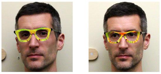 Gesichtserkennung ausgetrickst dank Brille: zwei verschiedene Personen?