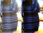 Kleid gold-weiss oder blau-schwarz???