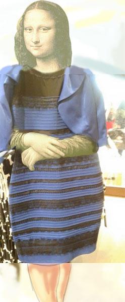 Foto kleid blau schwarz oder weib gold