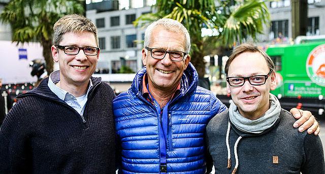 v.l.n.r. Missfeldt (ich), RTL-Experte Christian Danner, Autoblogger Thomas Gigold