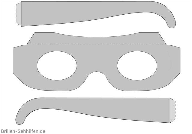 Eine Brille Basteln Vorlage Anleitung