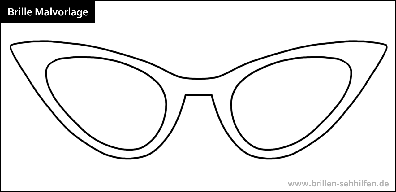 Brillen: Clipart, Ausmalbilder und Malvorlagen