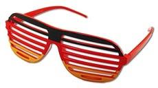 Deutschland Fanbrille mit Lamellen (Shutterbrille)