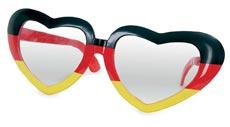 Deutschland-Partybrille in Herzform