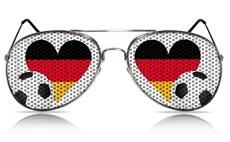 Fußball-Spaßbrille mit Deutschland-Herz