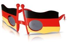 WM-Brille mit Deutschlandflagge