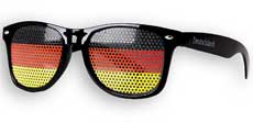 WM-Fanbrille Deutschland (schwarz) Sonnenbrille mit UV400 und Lochfolie