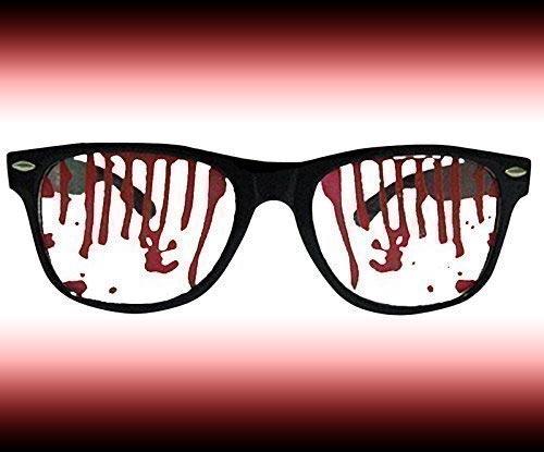 Blutige Halloweenbrille