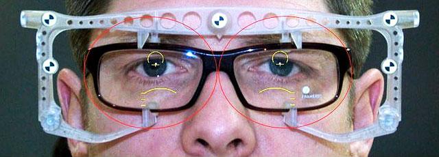 Pupillendistanz ausmessen
