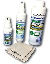 PANDACLEANER® Set 400ml Brillenreiniger 50ml + 100ml Spray + 250ml Nachfüllflasche