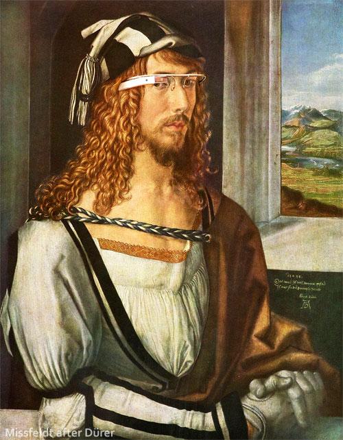 Albrecht Dürer mit Google Brille