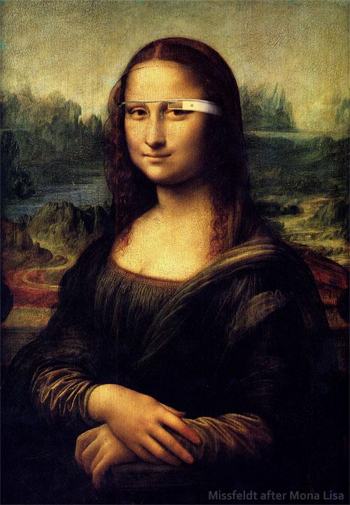 Mona Lisa mit Google Brille