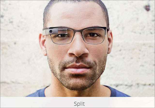 Google Brille Split