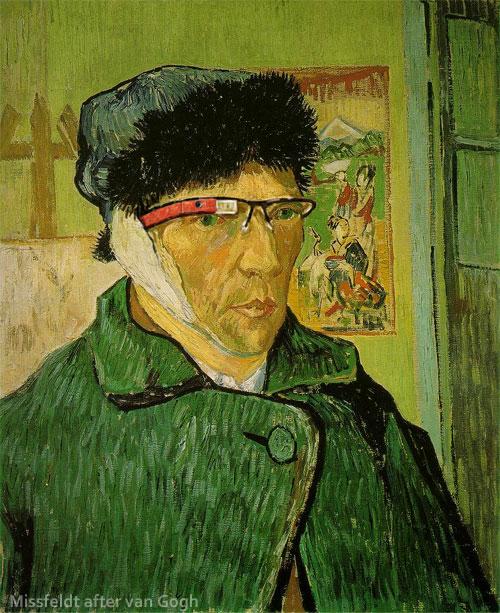Van Gogh mit Google Brille
