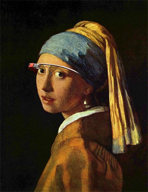 Junge Dame mit Turban und Google Brille (nach Vermeer)