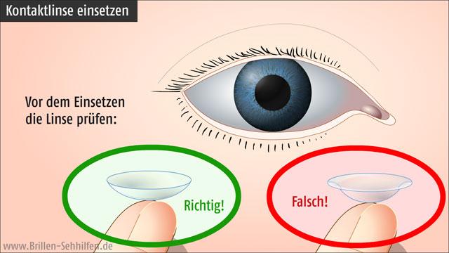 geringster Preis Dauerhafter Service verrückter Preis Kontaktlinsen einsetzen (Erklärung mit Bildern)