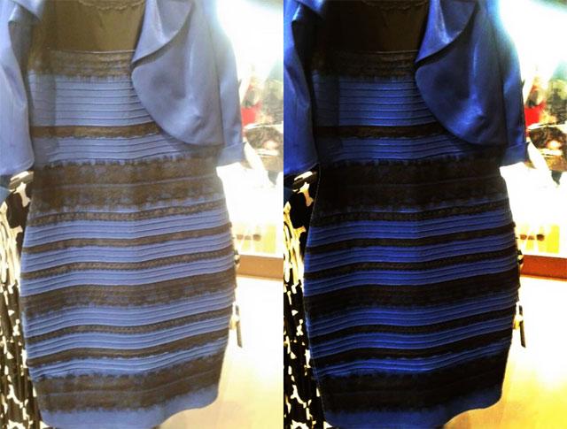 Kleid Blau Schwarz Oder Weiss Gold