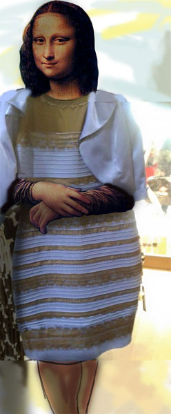 Kleid Weiß Gold Erklärung