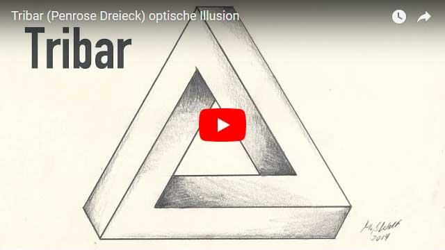 Penrose Dreieck Tribar Optische Täuschung