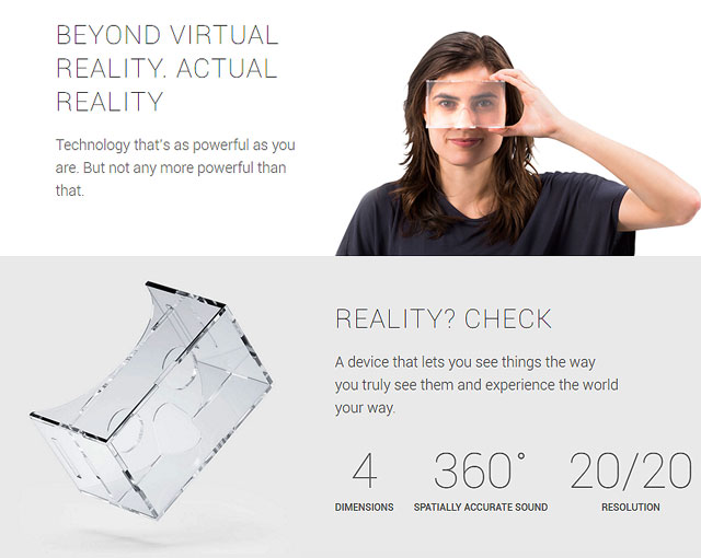 Google: beyond virtual reality, actual reality!