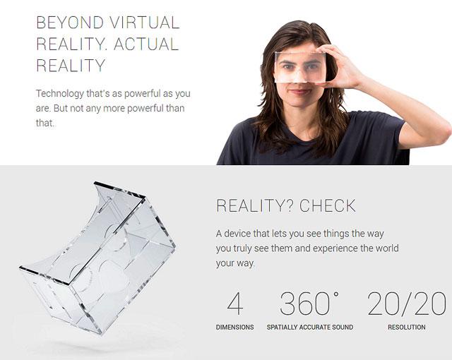 Google: beyond virtual reality, actual reality!